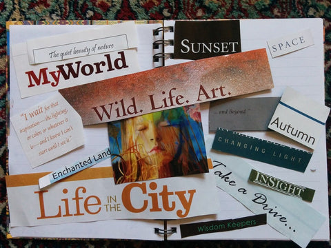 Vision Board, How to Create Your Own New Moon Ritual, The Witch's Guide