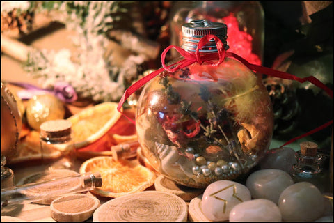 Witch's Balls, Yule, Winter Solstice, The Witch's Guide