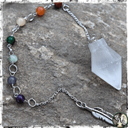 Selenite Crystal Pendulum, Selenite Crystal Bracelet, 7 Chakra Gemstones