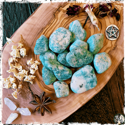 Amazonite Crystal, Stone of Courage, The Witch's Guide