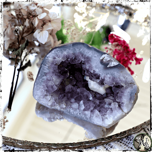 Amethyst Cluster, Geode Crystal | Dreams, Psychic Visions