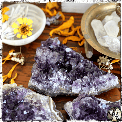 Amethyst Crystal Cluster, Psychic Intuition, Dreams, Visions, The Witch's Guide