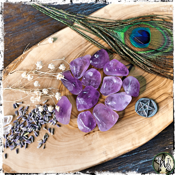 Tumbled AMETHYST Crystal | Psychic Intuition, Dreams