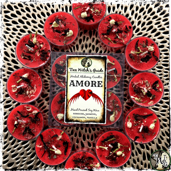 AMORE | Herbal Alchemy Spell Candles | Love, Passion