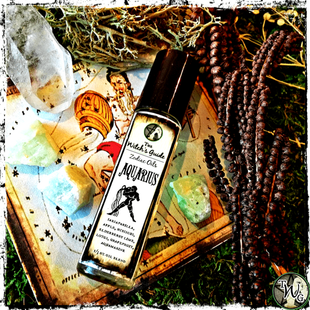 Aquarius Zodiac Oil, Ritual Oil, Astrology, Meditation, Witchcraft, The Witch's Guide