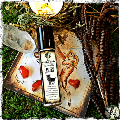 Aries Zodiac Oil, Astrology Ritual Oil, Meditation Oil, The Witch's Guide