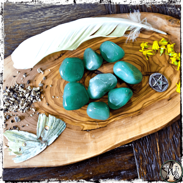 GREEN AVENTURINE Crystals, Tumbled | Emotional Balance