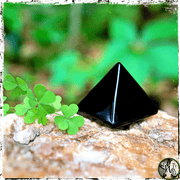 Black Obsidian Crystal Pyramid, Crystals for Protection,, The Witch's Guide