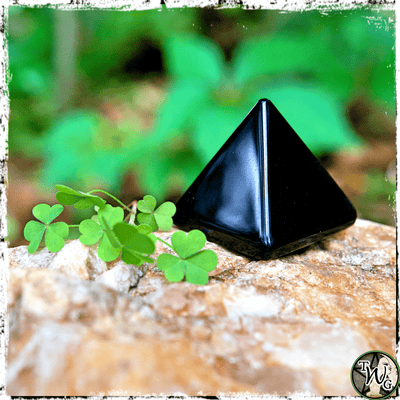 Black Obsidian Crystal Pyramid, Crystals for Fear, The Witch's Guide