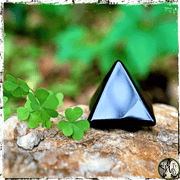 Black Obsidian Crystal Pyramid, Crystals for Shadow Work, The Witch's Guide