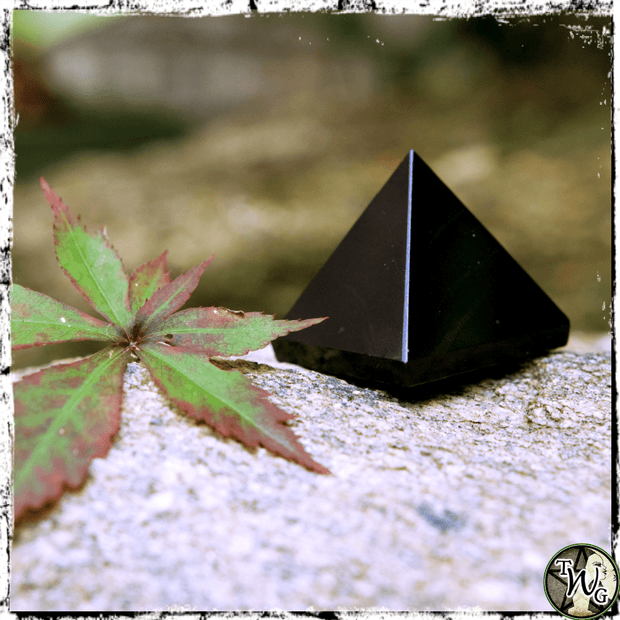 Black Onyx Crystal Pyramids, Protection Crystal, The Witch's Guide
