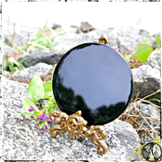 Black Crystal Scrying Mirror, Divination, Psychic Visions, The Witch's Guide