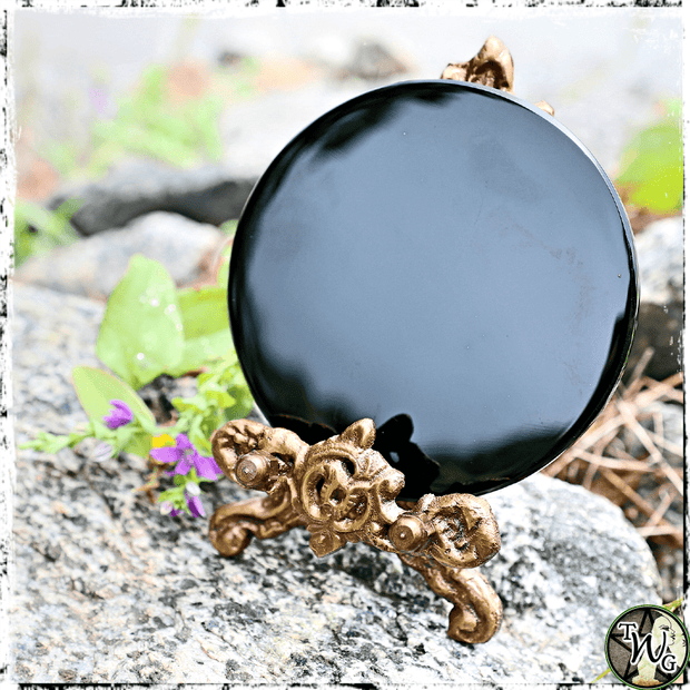 Black Obsidian Scrying Mirror, Divination, Ritual Tools, The Witch's Guide
