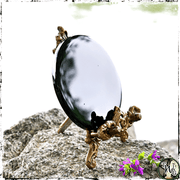 Black Scrying Mirror, Divination Tool, The Witch's Guide