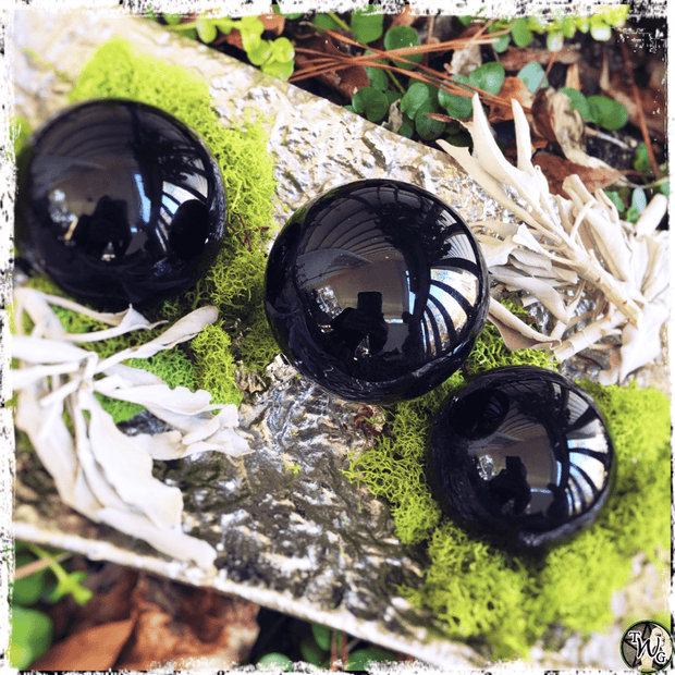 Black Obsidian Crystal Ball, Crystal Sphere for Scrying, The Witch's Guide