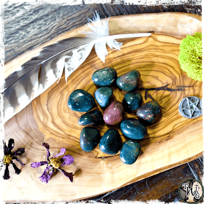BLOODSTONE Crystal, Tumbled | Purification, Blockage Removal