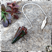 Bloodstone Crystal Pendulum, Pendulums for Witches, The Witch's Guide