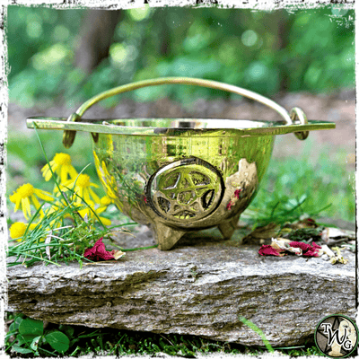 Pentacle Brass Cauldron, The Witch's Guide