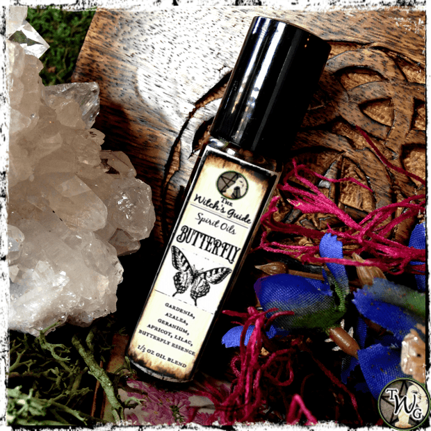 Butterfly Spirit Oil, Ritual Oil, Meditation Oil, Intention Oil, The Witch's Guide