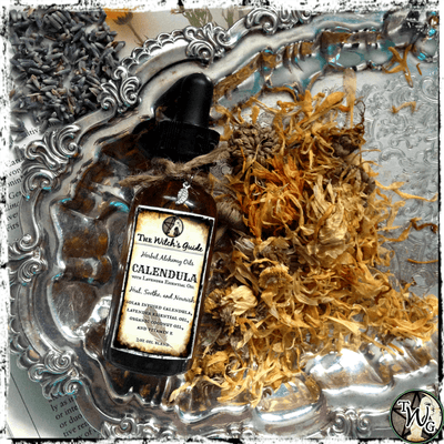 Calendula & Lavender Facial Elixir, Calendula Oil, Lavender Oil, The Witch's Guide