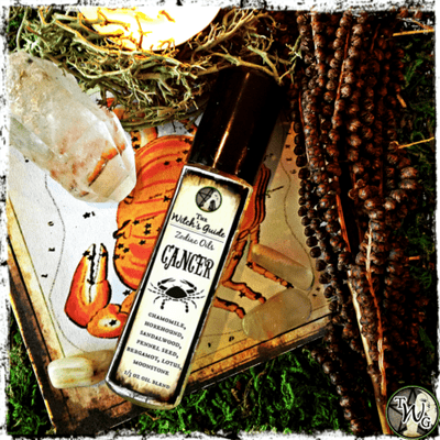 Cancer Zodiac Oil, Ritual Oil, Astrology Oil, Meditation Oil, Witchcraft, The Witch's Guide