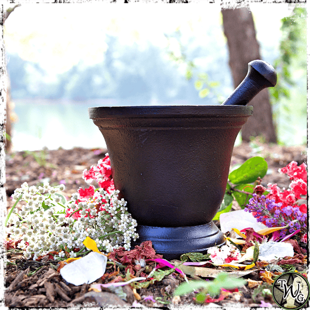 Black Cast Iron Cauldron for the Witch's Apothecary, The Witch's Guide