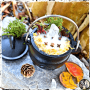Autumn Fire | Pentacle Cauldron Candle