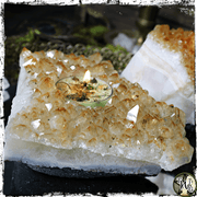 Citrine Tealight Candle Holder for Prosperity, Success, The Witch's Guide