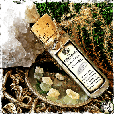 Copal Resin Incense, Psychic Intuition, Awareness, Witches Apothecary, The Witch's Guide