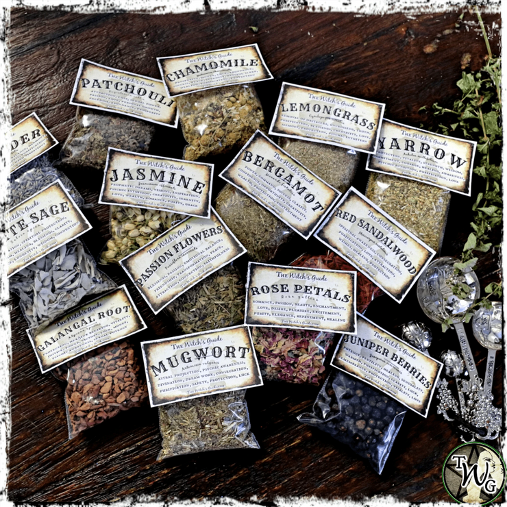Custom Witch Herb Set, Witchcraft Herbs, The Witch's Guide