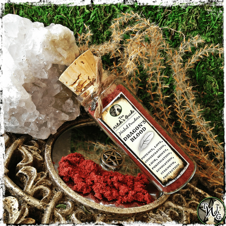 Dragon's Blood Powder Incense, Witchcraft Herbs, The Witch's Guide