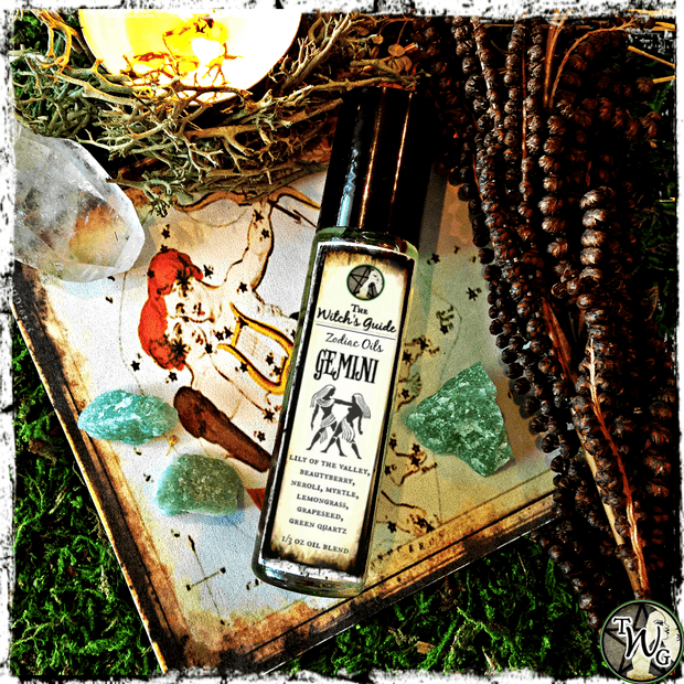 Gemini Zodiac Oil, Astrology Oil, Ritual Oil, The Witch's Guide