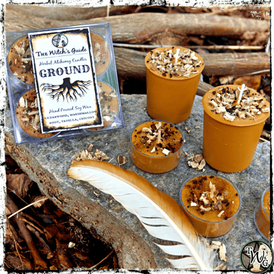 GROUND | Herbal Alchemy Spell Candles | Earth Connection