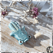 Hamsa Hand Potion Bottle Pendant | Holds Herbs, Oils, Moon Water