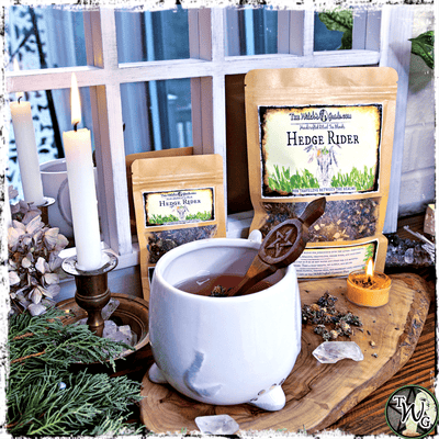 Hedge Rider Herbal Tea, Ritual Tea Blend, The Witch's Guide