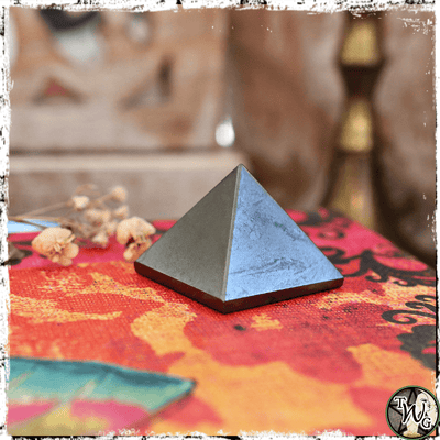 Hematite Crystal Pyramid | Memory, Focus, Knowledge