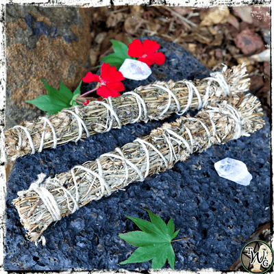 Hyssop Herbal Smudge Bundles, Pack of 2 | Uncrossing, Purification