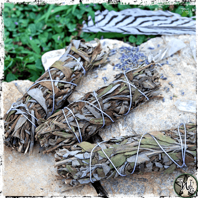 Lavender Herbal Smudge Bundles, Pack of 3 | Tranquility, Harmony