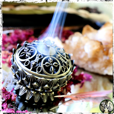 Lotus Incense Burner, Altar Bowl, Burn Incense