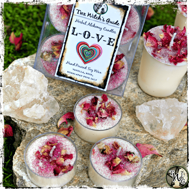 LOVE | Herbal Alchemy Spell Candles | Love, Romance