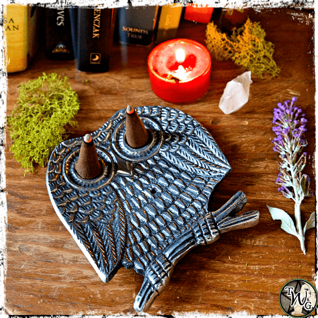 Owl Incense Holder for Cone Incense, The Witch's Guide