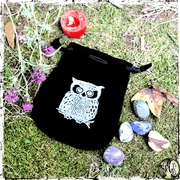 Velvet Owl Pouch, Spell Bag for Holding Amulets, Curios, Tarot Cards, The Witch's Guide