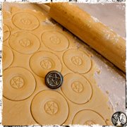 Pentagram Cookie Stamp, Embosser, The Witch's Guide