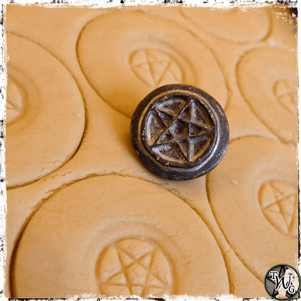 Kitchen Witch Accessory, Pentagram Cookie Stamp, The Witch's Guide