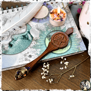 Pentagram Ritual Spoon, Herbs, Resins, The Witch's Guide