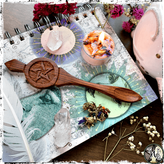Pentacle Ritual Spoon, Herbal Tea Spoon, The Witch's Guide
