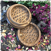 Pentacle Herb Grinder, Kitchen Witch Accessory, The Witch's Guide, Green Witch Accessory