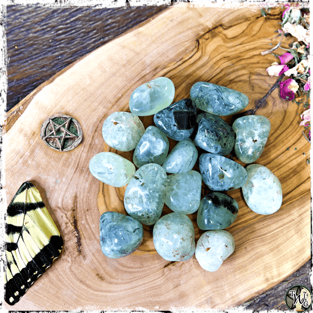 Tumbled Prehnite Crystal, Heal the Healer, The Healer's Stone, Green Witch, The Witch's Guide