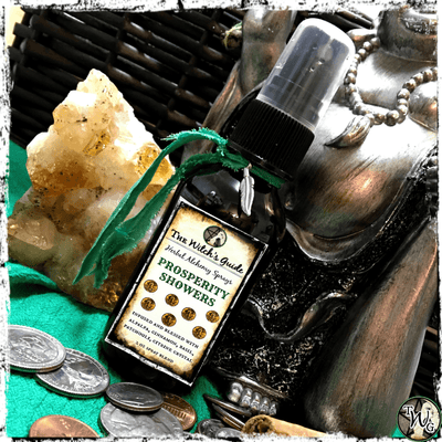Prosperity Showers Herbal Alchemy Spray, Fortune, Money, Abundance, The Witch's Guide