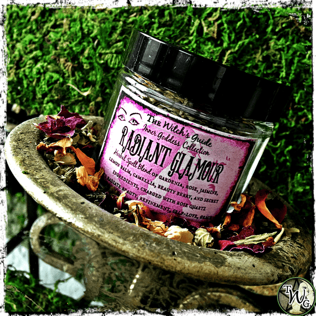 Herbal Incense for Beauty and Grace, Radiant Glamour Herbal Spell Blend, The Witch's Guide
